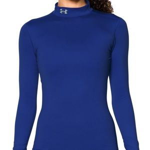 NEW Under Armor ColdGear Fitted Mockneck Shirt
